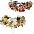 Ladies Charm Adjustable Ribbon Flower Crown Wreath Garland Holiday Headwear