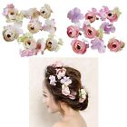 Womens Wedding Bride Headpieces Rose Flower Hairpins Hair Clips Barrette 1 Set