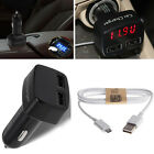 Dual USB 3.1A Car Charger LED Display+ Micro USB Cable Fast Charge for Universal