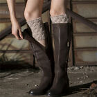 Chic Winter Women Brief Coarse Knitted Leg Warmers Socks Boot Cover Stylish EW