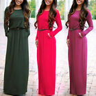 Boho Women Long Maxi Dress Evening Cocktail Party Beach Summer Long Sleeve Dress