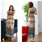 Bohemia Women Floral Long Maxi Dress Evening Cocktail Party Beach Dress Sundress