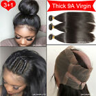 400G Extra Thick 360 Lace Closure With 3 Bundle Full Head Virgin Human Hair F234