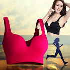 Women Sports Fitness Padded Seamless Vest Bra Comfort Yoga Workout Gym Top Bras