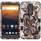 For ZTE Max XL N9560 IMPACT TUFF HYBRID Protector Case Skin Phone Cover