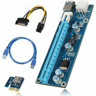 Lot-USB-3-0-PCI-E-Express-1x-To-16x-Extender-Riser-Card-Adapter-Power-BTC-Cable