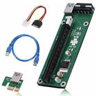 Lot BTC Riser Card USB 3.0 PCI-E Express 1x To 16x Extender Adapter Power Cable