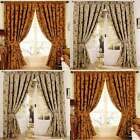 Paoletti Zurich Floral Chenille Jacquard Lined Pencil Pleat Curtains