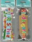 U CHOOSE Assorted Jolee's KID'S SCHOOL TITLES 3D Stickers preschool kindergarten