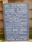 METAL SIGN BE STRONG BE HAPPY HANGING HAPPY THINGS PLAQUE INSPIRE OTHERS