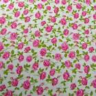 By Mary Rose, Perfect Pink Roses , Cotton Fabric, Per 1/2 Yd or Per Yd