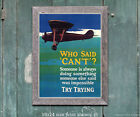 Try Trying - Vintage Motivational Aviation Poster [4 sizes, matte+glossy avail]
