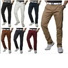 Men's Casual Slim Fit Pants Straight Pencil Stretch Work Jeans Trousers Khakis