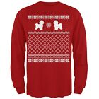 Bichon Frise Ugly Christmas Sweater Red Adult Long Sleeve T Shirt