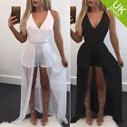 Women Casual Sleeveless Playsuit shorter  Long Maxi Dress Short Jumpsuit
