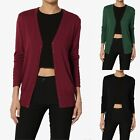 TheMogan Basic Button Down V-Neck Long Sleeve Lightweight Knit Sweater Cardigan