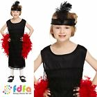 CHILD BLACK 20s FLAPPER /TASSELS DRESS UP OUTFIT 4-12 girls fancy dress costume