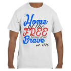 Patriotic 4th of July Tshirt Home of the Free Because of the Brave Est 1776