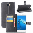 Huawei Y7/Y7 Prime 2017 Case PU Leather Flip Cover Slots Wallet Protective Skin