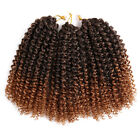 "8"" 3pcs/pack Synthetic Curly Wavy Braiding Crochet Twist Braids Hair Extensions"