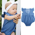 Newborn Baby Girl Bodysuit Summer Romper Jumpsuit Outfit Clothes.set