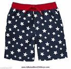 Gymboree NWT Blue Americana STARS PATRIOTIC SWIMSUIT TRUNK SHORTS 3 6 Months