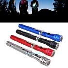 1Pc Portable Zoomable Telescopic Magnetic 3 LED Flashlight Outdoor Camping Torch