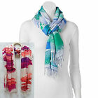 "Apt 9 womens Super Soft Brushstrokes Oblong Scarf Pink or Blue 70"" x 20"" NEW"