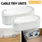 Large Small Cable Wire Plug Tidy Cover Unit For 6/4 Way Extension Lead - White