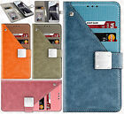 For LG Aristo Premium Front Pocket Wallet Case Pouch Cover +Screen Protector