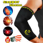 NEW Elbow Support Brace Copper CFR Compression Sleeve Tommie Fit Arthritis Arm S