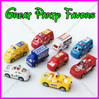 *NEW* Pull Back Police Fire Truck Toy Car Kids Birthday Xmas Gift Party Favor