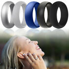 5 Pcs Silicone Wedding Ring Rubber Band Sport Outdoor Flexible Men Women Gifts