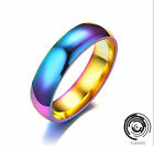 Unisex Stainless Steel Women Multi-Color Fashion Ring Finger Rings Size 6-13