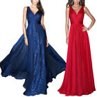 Women Summer Sleeveless V-neck Evening Party Cocktail Maxi Long Dress Prom