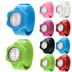 Kids Girls Boys Flower Hospital Nurse Slap Snap On Silicone Quartz Wrist Watch