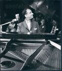 1957 Wire Photo Clown Prince of Denmark Pianist Comedian Victor Borge