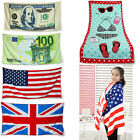 1pcs Fashion Towel Beach Bath Travel Large Swim Travel Trip Dollars Flag Towels