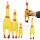 Yellow Screaming Rubber Chicken Pet Dog Toy Squeak Squeaker Chew Gift 3 Size