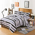 Striped Qulit Doona Duvet Cover Set Single/Queen/King Size Dogs Bed Animal New