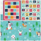 Christmas Advent calendar Panel & backing fabric Merry Little christmas Dashwood