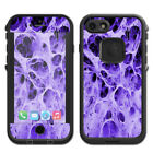 Skins Decals for Lifeproof Fre iPhone 7 Case / Neurons Purple Web Skin Weird