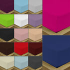 Quality Polycotton Plain Dyed Fitted Bed Sheets Single, Double, King, Super King