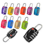 4-Dial Combination TSA Padlock Case Luggage Travel Suitcase Resettable lock