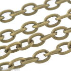 Wholesale Lots Gift  Bronze Tone Cable Chains Findings 3x4mm