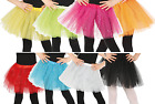Girls Glittery Fancy Dress Tutu Dance Halloween Christmas Princess 8 Colours