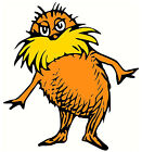 """5""""-9"""" DR SEUSS CAT HAT LORAX WALL STICKER GLOSSY BORDER CHARACTER CUT OUT"""