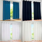 1PCs Luxury Curtains Eyelet Ring Top Panels Net For Living Room Bedroom