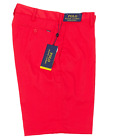 "Polo Ralph Lauren Stretch Classic Fit Red 9.5"" Flat Front Dress Shorts NWT"