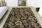 Contemporary Soft Non Shed Brown Floral Rugs Small Large Easy Clean Modern Rugs